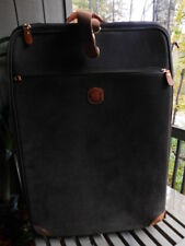 """BRICS genuine LEATHER cognac OLIVE green SUITCASE LUGGAGE rolling wheels 30"""""""