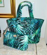 NWT $225 MZ Wallace METRO Med Tote Bag Leather Trim Paradise Print