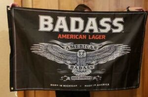 Bad Ass Beer Kid Rock Chillin the Most cruise flag banner mancave flag Huge CTM