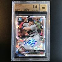 Harrison Bader 2018 Bowman Chrome Auto RC ATOMIC REFRACTOR #'d/100 BGS 9.5/10