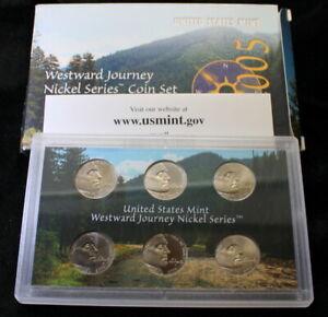 2005 Westward Journey Nickel Series Uncirculated Coin Set