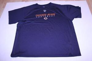 Men's Chicago Bears 2XL Athletic Performance Shirt (Navy Blue) Reebok