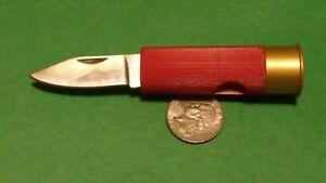 12 gauge SHOT SHELL KNIFE Sportsmans Utility Pocket Hunting Vest Knife NEW Red