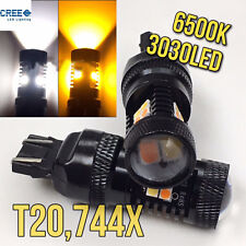 Switchback cree LED T20 7443 7444 FRONT signal PARKING DRL light for Toyota