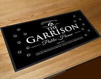 Bar runner The Garrison public house Peaky Blinders inspired black counter mat