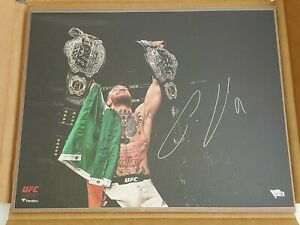 Conor McGregor Signed 16x20 Photo Fanatics Sticker UFC Champion