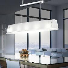 Suspension luminaire plafond lustre lampe verre chrome salle à manger éclairage