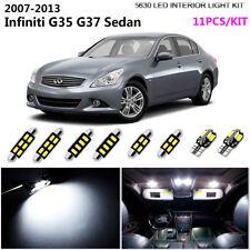 11P HID White Interior Light Kit For 2007-2013 Infiniti G35 G37Sedan&New Product