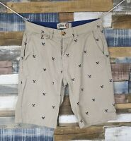 Tokyo Laundry Beige Mens Cotton Chino Shorts Size W30 L11