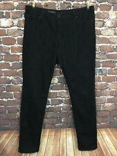 KUT Women's Jeans Black Flocked Mia Toothpick Skinny leg Anaglypta Print Size 14