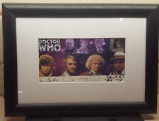 """Dr/Doctor Who FramedSigned Commerative Stamp Cover - """"DOCTORS UNITED"""""""