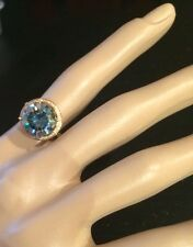 Huge 4.20CT Moissanite Solitaire Ring in 10K Gold Setting With  Genuine Diamonds