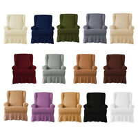 Stretch Seersucker Wingback Armchair Cover Couch Slipcover Dustproof Cover