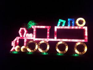 VINTAGE PREMIER 'TRAIN LIGHT SILHOUETTE' CHRISTMAS LIGHT DECORATION VERY BRIGHT