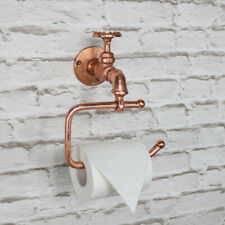 Copper metal toilet roll tissue holder retro industrial bathroom accessories
