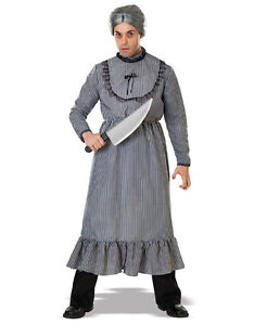 """Psycho Movie Mens Norman Bates Mother's Dress Costume Std Chest 44"""""""