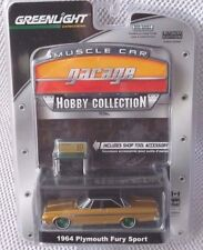 1964 PLYMOUTH FURY SPORT  Greenlight Hobby MC Garage  GREEN MACHINE Chase #35/80