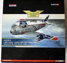 North American F-86F Sabre USAFE 48th FW Skyblazers Chaumont AB 1956 Corgi 35815