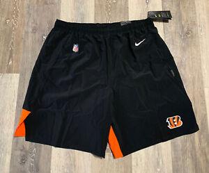 "Nike Cincinnati Bengals Sideline Player Issued Flex Woven 8"" Shorts Men's XL NWT"