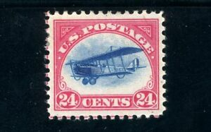 USAstamps Unused VF US 1918 Airmail Jenny Scott C3 OG MNH