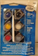 Testors 1/10oz, Acrylic Pots, 6pk, Primary Colors TES9001