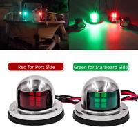 Kayak Marine Boat Yacht Pontoon Lights Bow Side Navigation Red/Green LED Light