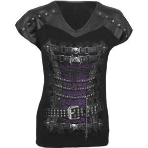 Gothic Punk Rock Victorian Vampire Print Skull Bat Vampire 3D Graphic T-Shirt