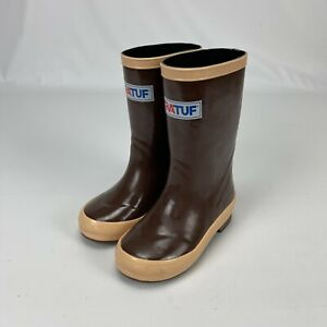 """XtraTuf Little Kids Toddler Legacy 8"""" Tan Brown Waterproof Boots Shoes Size 7"""