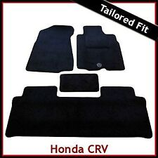 HONDA CR-V Manual Mk2 2001-2006 Tailored Carpet Car Mats BLACK