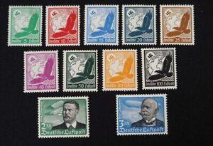 1934 Deutsches Reich; Serie Flugpost  */MH, MiNr. 529/39, ME 100,-
