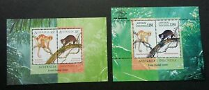 *FREE SHIP Indonesia - Australia Joint Issue Cuscus 1996 Monkey (ms pair) MNH