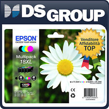 EPSON MULTIPACK 18XL ORIGINALE MARGHERITA CARTUCCE INK-JET CMYK