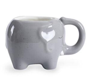 Grey Speckled Elephant Shaped 3D Novelty Animal Safari Mug Cup Tea/Coffee Gift🐘