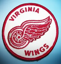 Virginia Wings Red Ice Hockey Team Patch Patches Vintage New AHL Defunct 72-75'