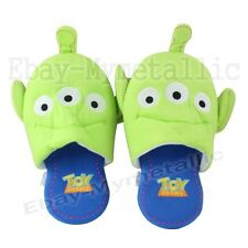 Disney Toy Story Little Green Men Alien Thin Soft Plush Slipper One Pair