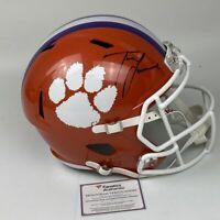 Autographed/Signed TREVOR LAWRENCE Clemson Full Size FS F/S Helmet Fanatics COA