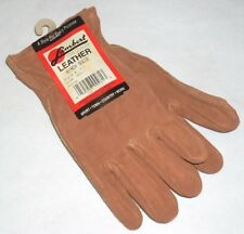 Lambert 415 Rust Color Leather Gloves Ranch Suede Size Small USA Made