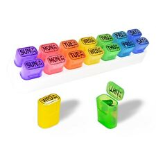GMS® 7 Day AM PM Pill Organizer Weekly Pill Reminder Travel Pill Pods Pill Case
