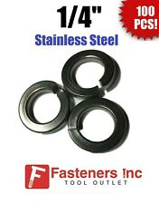 100 1//4 Stainless Steel Medium Lock Washers Fast Free Shipping 100 Pieces