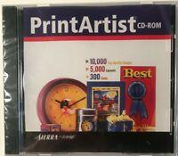 Sierra Home Print Artist CD-ROM (2000) NEW & SEALED