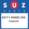 63111-04600-25G Suzuki Fender,rr 631110460025G, New Genuine OEM Part