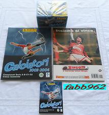 Calciatori Panini 2003/2004/04 Album vuoto+box sigillato+aggiornamenti edicola