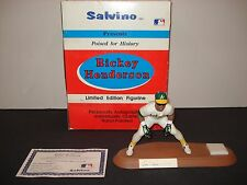 Rickey Henderson Autographed Salvino Figurine Limited Edition Oakland Athletics