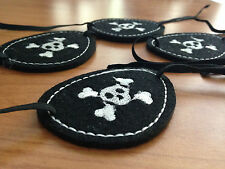 Pirate Party Costume Fun Felt Eye Patch Skull & Crossbone Favour Birthday Kids