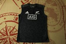 ALL BLACKS NEW ZEALAND 2018 2019 RUGBY vest JERSEY SHIRT ADIDAS ORIGINAL SIZE L