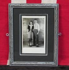 Vintage 1930s Roller Skating Couple Antique Photograph Framed Roller Skate Photo