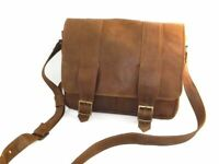 BORSA A TRACOLLA UOMO IN VERA PELLE, DOUBLE-VINTAGE 🇮🇹MADE IN ITALY🇮🇹