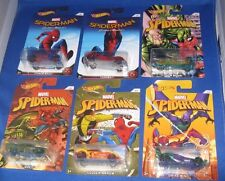 DC UNIVERSE  MARVEL COMICS SPIDER-MAN HOT WHEELS CARS COMPLETE SET OF 6 NEW