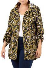 9d3de9ea0bac New Womens Plus Size Fish Tail Hooded Mac Jacket Leopard Print Coat 18-24