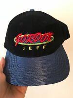 Vintage 90s NASCAR Jeff Gordon Strap Back Dad Hat Adjustable #24 Baseball Cap